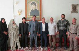 دیدار با خانواده ورزشکار شهید حسین باروتی